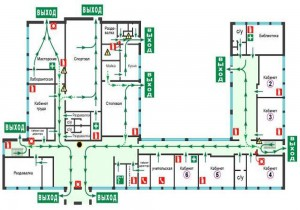 Пример плана эвакуации с сайта www.23.mchs.gov.ru